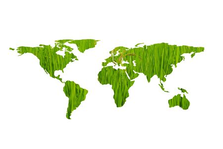 Ecology concept,eco world map made of green leaves Stock fotó