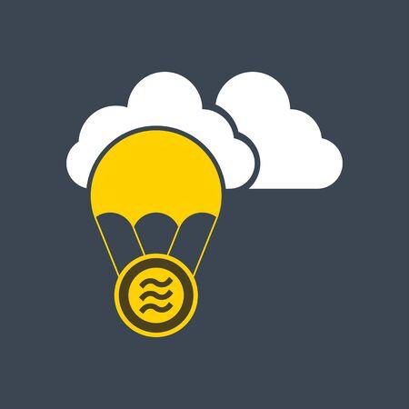 Libra coin flat vector. logo finance business concept