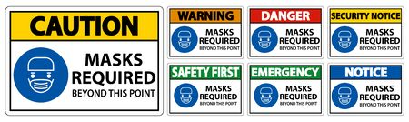 Symbol Masks Required Beyond This Point Sign