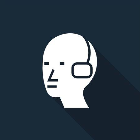 Wear Ear Protection Sign Isolate On White Background,Vector Illustration Ilustração