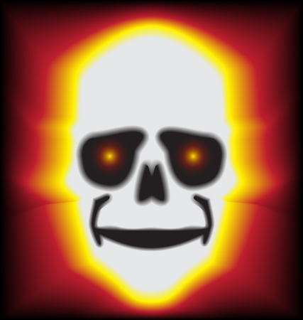 fling: fire bone fling background vector Illustration