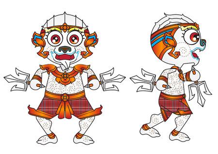 ramayana: hanuman cartoon character concept vector