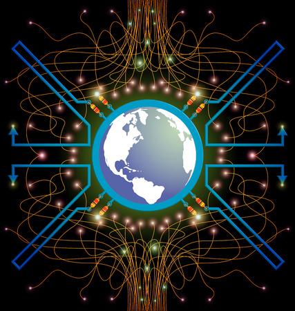 internet technology communication background vector