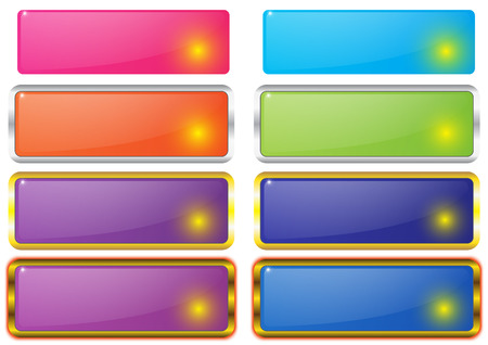 button set: quadratische leere Schaltfl�che Set Vektor Illustration