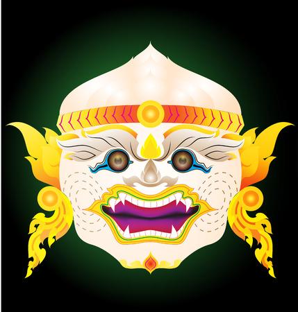 actors: hanuman actors mask similarly halloween mask Illustration