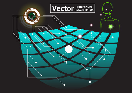 solar cell: solar cell power background vector