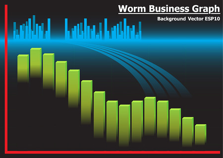computer worm: abstract worm virus background vector Illustration