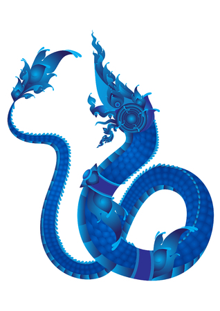 nag: naga Thai dragon pattern symbol vector Illustration