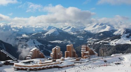 alpen: Winerurlaub in Avoriaz in den französischen Alpen