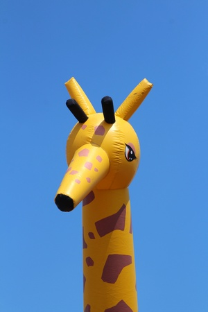 inflated: Giraffe as a inflated figure
