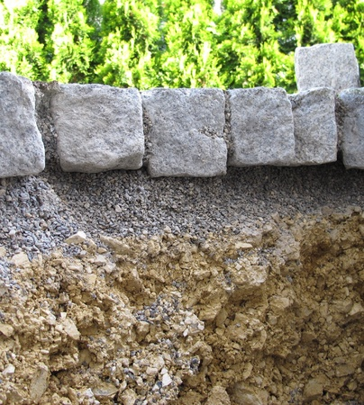 substructure: Substructure of a patch covering Stock Photo