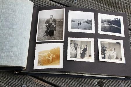 Old photos in an album
