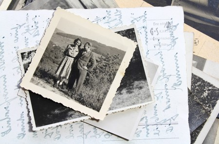 Old photo of a couple