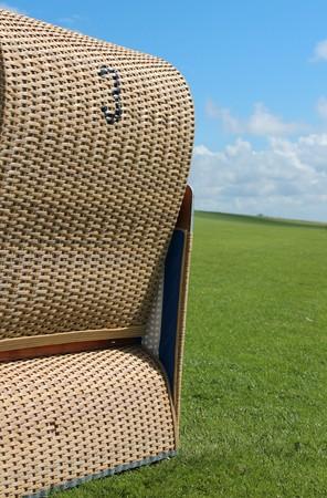 dike: beach chair on the dike