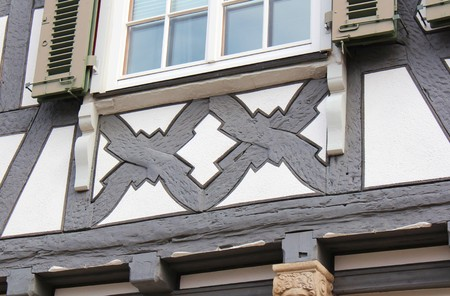 timbered: Timbered house