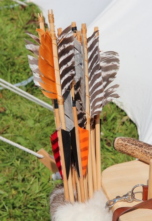 arrows in the quiver Stock Photo