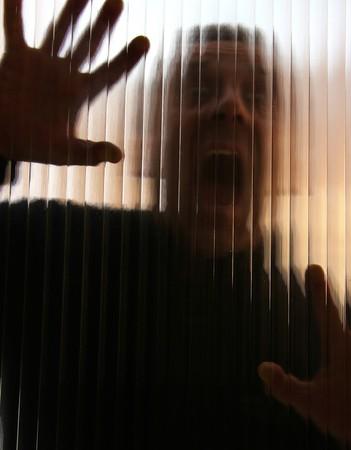 Victim behind a slice photo