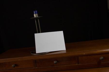 old desk: Old secretary desk with letter
