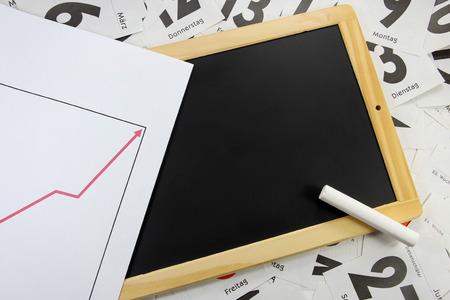 slate board: slate board with chart