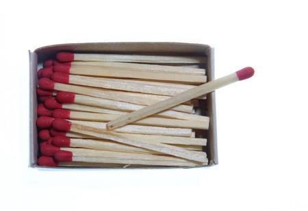 matchstick: Opened matchstick box