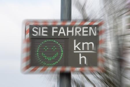 exceeded: Scoreboard of speed Stock Photo