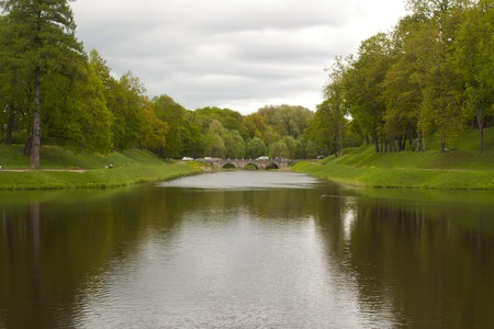 The bridge in the Palace Park in Gatchina, a suburb of St. Petersburg.