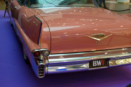 Saint Petersburg, Russia - October 07, 2018: Exhibition of old cars in the Mall. Cadillac Deville.
