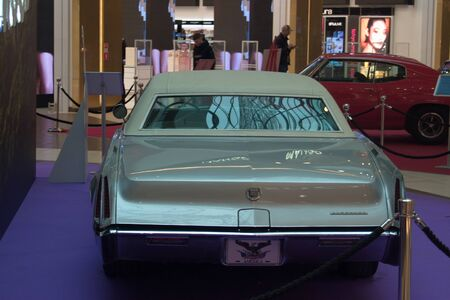 Saint Petersburg, Russia - October 07, 2018: Exhibition of old cars in the Mall. Cadillac Eldorado.