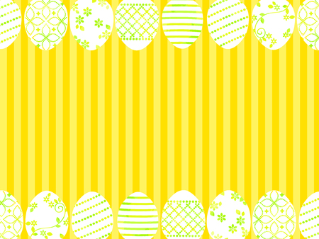 Yellow easter egg illustration background