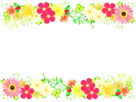 Various flowers in spring illustration frames 向量圖像