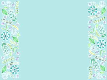 Blue Botanicals frame Illustration