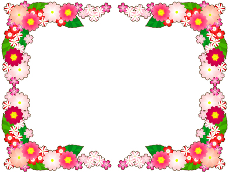 Spring Flower illustration frames, Primula, verbena Imagens - 118886749