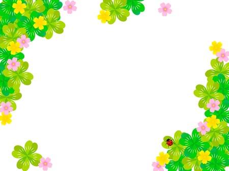 Clover and chemical illustration frames Иллюстрация