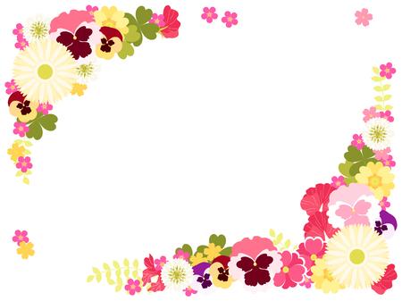 Small flowers in spring illustration frames Imagens - 119812351