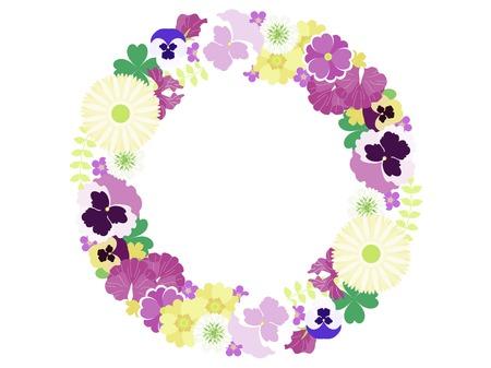 Small flowers in spring illustration frames