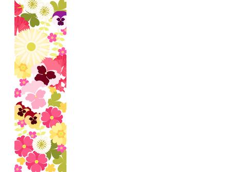 Piccoli fiori in cornici di illustrazioni primaverili