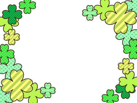 Clover illustration background, pop, cute