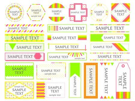 Set of various frames