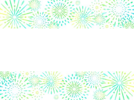 Fireworks illustration background, Japanese style, white background Vetores