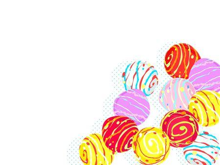 Colorful water balloon illustration background, Japanese toys Standard-Bild - 126480570