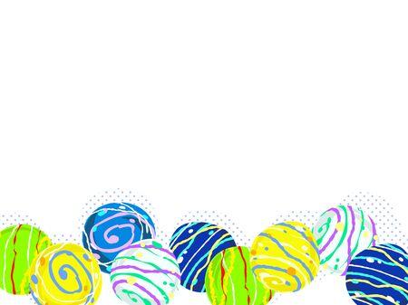 Colorful water balloon illustration background, Japanese toys Standard-Bild - 126480569