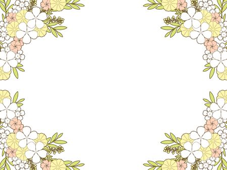 Summer Flower Frame, rosy Periwinkle, Wax flower