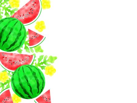 Watermelon illustrations, watercolor