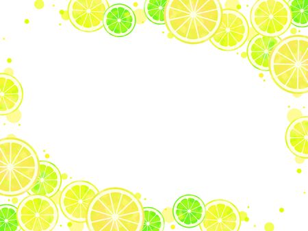 Sliced citrus illustration background, watercolor, lime, lemon, grapefruit