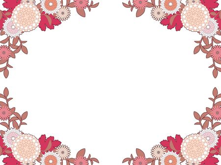 Autumn Chrysanthemum Frame Illustration