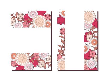 Autumn Chrysanthemum Frame Ilustração
