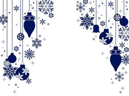 Snow and Christmas ornament illustration background, simple, Christmas card style, vector material Ilustração