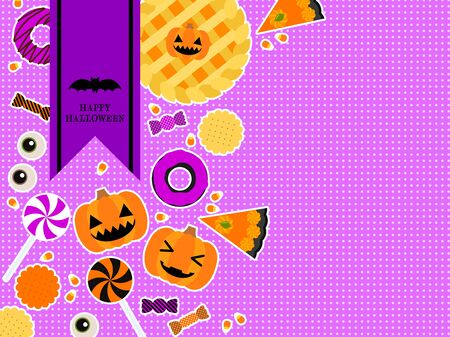 Halloween illustration background, comical and cute, vector material