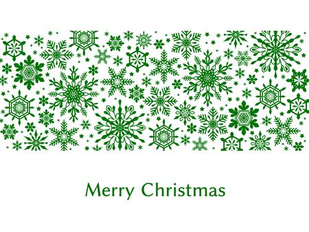 Simple Christmas cards, snowflake patterns, vector materials