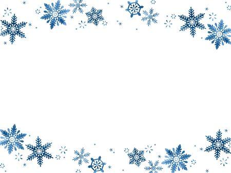 Snow Crystal Illustration Background Ilustração